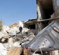 Varias casas en la ciudad de Kermán quedaron destruidas por el sismo de este viernes 30 de noviembre. Foto: sunoticiero.com