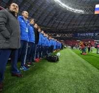 El encuentro se disputará en el estadio Luzhniki de Moscú. Foto: AFP