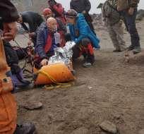 El extranjero sufrió una descompensación en su salud, según reporte del ECU 911. Foto: Twitter ECU 911 Quito.