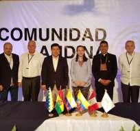 TENA, Ecuador.- Los miembros del consejo se citaron en Tena para impulsar interconexión eléctrica. Foto: Cancillería.ec.