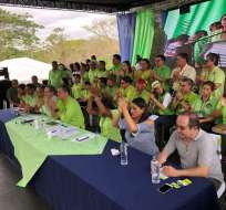 ESMERALDAS, Ecuador.- Expresidente Correa aclaró que encuentro no se efectuó con fines electorales. Foto: Twitter Alianza PAIS Napo.
