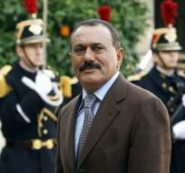 El ex presidente yemení Ali Abdullah Saleh llegando al Palacio del Elíseo el pasado 18 de noviembre. Foto: AFP