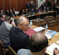 Jorge Glas habló antes de que se reinstale el décimo día de audiencia de juicio. Foto: API