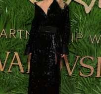 la actriz Pamela Anderson en la gala de los premios British Fashion Awards 2017.  Foto:AFP