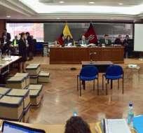 Los representantes de la Procuraduría llegaron a la CNJ con 7 minutos de retraso. Foto: Fiscalía