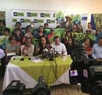 Secretario ejecutivo del movimiento señaló a Gabriela Rivadeneira como responsable. Foto: Twitter @35PAIS