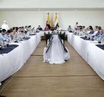 Presidente Moreno hizo anuncio durante gabinete ampliado en Lago Agrio. Foto: Secom