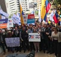 Cuatro movimientos políticos se inscribieron para apoyar a la consulta popular. Foto: Twitter