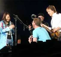 La leyenda de la música pop dedicó a la pareja el tema Mull of Kintyre. Foto: Tomado de The Jewelerblog.com.