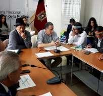 """Miguel Carvajal: """"Las declaraciones de Mangas fueron imprecisas"""". Foto: @PoliticaEc"""
