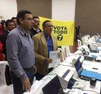 El Partido Adelante Ecuatoriano Adelante también se inscribió ante el CNE para hacer campaña por el Sí a la Consulta Popular. Foto: Patricia Díaz.