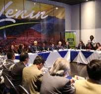Dirección nacional de Alianza PAIS se reúne para analizar coyuntura actual. Foto: API
