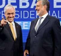El ex presidente Sebastián Piñera y el senador Alejandro Guillier, se cruzaron días atrás en un debate por TV.   Foto:ElClarín