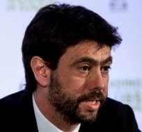 El dirigente Andrea Agnelli es acusado de vender entradas a hinchas ultra del elenco italiano. Foto: Tomada de canalrcn.com