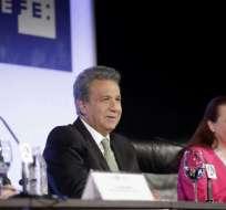 El mandatario también tuvo un encuentro con la alcaldesa de Madrid. Foto: Cancillería