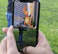 El juego Pokemon Go exhibido en un iPhone en San Francisco el 18 de diciembre del 2017. Foto: AP/Michael Liedtke.