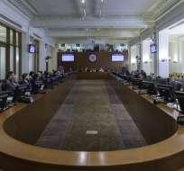 """Canciller Espinosa considera que denuncia no tiene """"consistencia legal"""". Foto: Archivo OEA"""