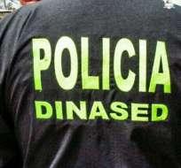 CATAMAYO, Ecuador.- Juan Diego Narváez fue hallado sin daños por miembros de la Dinased y la Dinapen. Foto: Twitter Policía Nacional. Foto: Twitter Policía Nacional.