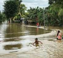 MANILA, Filipinas.- La tormenta Tembin llega menos de una semana después del paso de la tormenta tropical Kai-Tak. Foto: BBC.