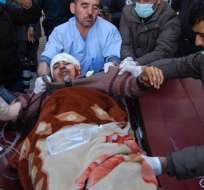 Afganistan.-  El Estado Islámico se reivindicó este ataque terrorista. Foto: AFP