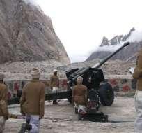 Tropas de Pakistán en el glaciar.