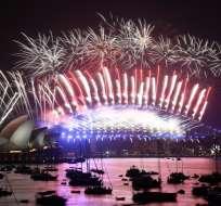 Aunque los habitantes de Kiribati y Samoa fueron los primeros en recibir el 2018, las fiestas en Australia son las que marcan el inicio de los eventos más importantes a nivel mundial. Foto: AFP