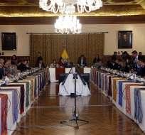 Durante gabinete ampliado Moreno afirmó que Glas ya no es vicepresidente. Foto: API