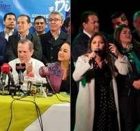El otrora Alianza PAIS se dividió en dos bloques que apoyan o rechazan la consulta popular. Foto: Collage.