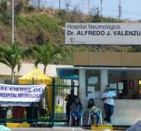 En 5 días se conocerá si el hospital neumológico continuará cerrado o será reabierto. Foto: Ecuavisa