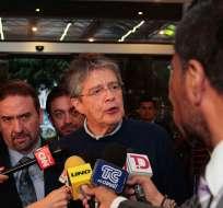 El líder de CREO, Guillermo Lasso manifestó que la terna refleja el antiguo gobierno de Rafael Correa. Foto: API