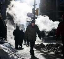 El frío ártico sigue congelando el este de EEUU y Canadá. Foto: AFP