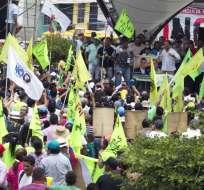 Correa abre campaña contra consulta popular de Moreno. Foto: AFP