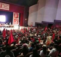 Líderes y simpatizantes del movimiento Unidad Popular reiteraron por qué apoyan el Sí en la consulta popular. Foto: Twitter Unidad Popular