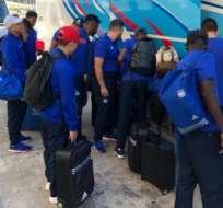 El equipo 'millonario' se quedará en Montevideo hasta el 28 de este mes. Foto: Tomada de la cuenta Twitter @CSEmelec