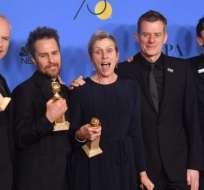 """""""Tres anuncios por un crimen"""" ganó tres Globos de Oro, incluido el de Mejor película."""