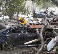 Sheriff del condado de Santa Bárbara advirtió que el balance de fallecidos puede subir. Foto: AP