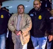 """El 22 de febrero de 2014, el """"Chapo"""" Guzmán fue detenido por elementos de la Marina Armada de México. Foto: Archivo/AFP"""