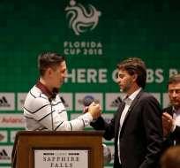 El brasileño Jackson Follman estuvo presente en la presentación oficial de la Florida Cup.