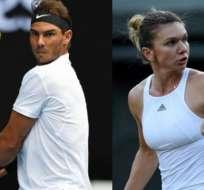 Rafael Nadal y Simona Halep lideran sus respectivas clasificaciones en el tenis mundial.