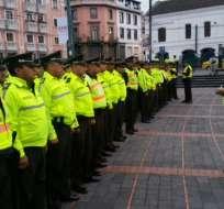 QUITO, Ecuador.- 48 267 policías estarán habilitados para los comicios del 4 de febrero de 2018. Foto:archivo
