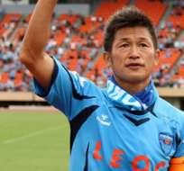 El japonés Kazuyoshi Miura tiene 50 años de edad y 33 como jugador profesional.