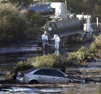MONTECITO, EE.UU.- Los aludes registrados en esa localidad han destrozado 65 casas y dañado a otras 462. Foto: AP.
