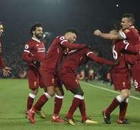 Los ´Reds´ vencieron 4-3 a los 'citizens' en el estadio Anfield. Foto: AFP