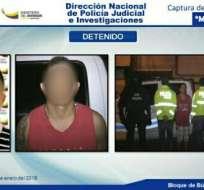 STO. DOMINGO DE LOS TSÁCHILAS, Ecuador.- La Policía Nacional informó a través de twitter sobre la captura del tercer más buscado de Manabí. Foto: tomada de twitter