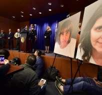 La fianza para ambos fue establecida en 13 millones de dólares. Foto: AFP