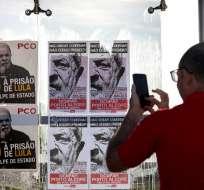 PORTO ALEGRE, Brasil.- El exmandatario se ha postulado nuevamente para presidente y lidera las encuestas. Foto: AFP
