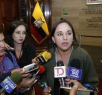 Gabriela Rivadeneira también, exsecretaria ejecutiva de AP defendió su gestión e insistió en que todas las cuentas han sido revisadas por el CNE. Foto: API