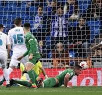 El elenco 'pepinero' venció 2-1 al elenco 'merengue' en el estadio Santiago Bernabeú. Foto: AFP