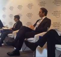 Pablo Campana durante su intervención en el Foro Económico Mundial. Foto: Ministerio Comercio Exterior