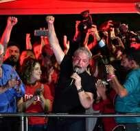 El miércoles Lula fue condenado a doce años de cárcel por corrupción. Foto: AFP